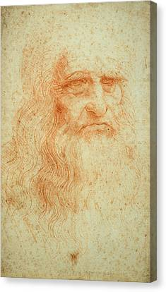 Self-portrait Canvas Print - Self Portrait by Leonardo da Vinci