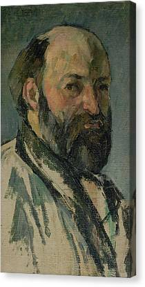Self Portrait, C.1877-80 Oil On Canvas Canvas Print by Paul Cezanne