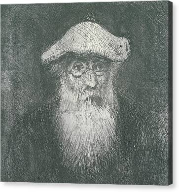 Self Portrait  Canvas Print by Camille Pissarro