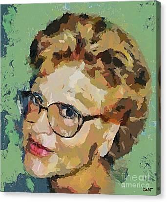 Self-portrait Canvas Print by Dragica  Micki Fortuna