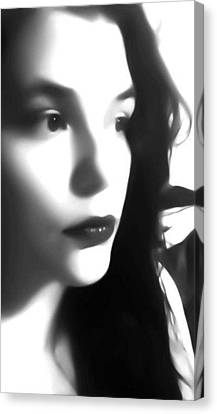 Self-portrait For Nancy Canvas Print