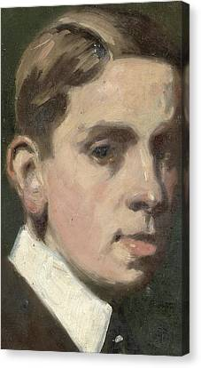Youthful Canvas Print - Self Portrait by Francis Campbell Boileau Cadell