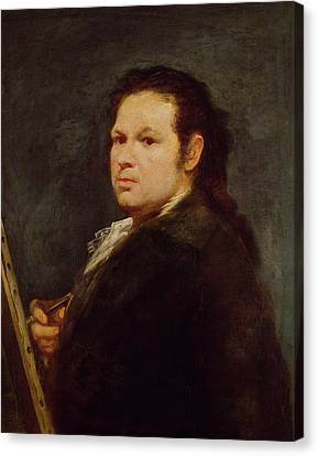 Artist At Easel Canvas Print - Self Portrait by Goya