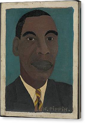 Self-portrait II Canvas Print by Horace Pippin