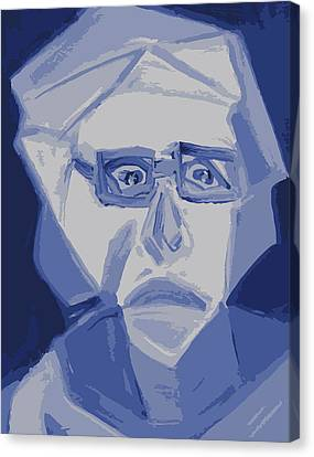 Self Portrait In Cubism Canvas Print by Shea Holliman