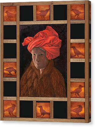 Self-portrait In The Red Turban Canvas Print