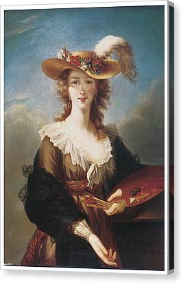 Marie-louise Canvas Print - Self Portrait by Marie Louise Elisabeth Vigee-Lebrun