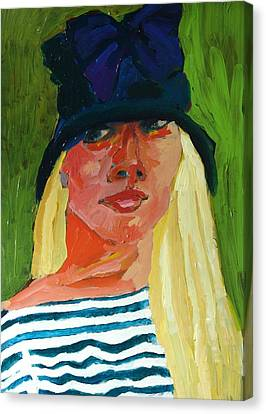 Self-portrait No . 1 Canvas Print by Janet Ashworth
