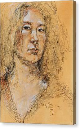Self Portrait Of Becky Kim 2014 01 Canvas Print by Becky Kim