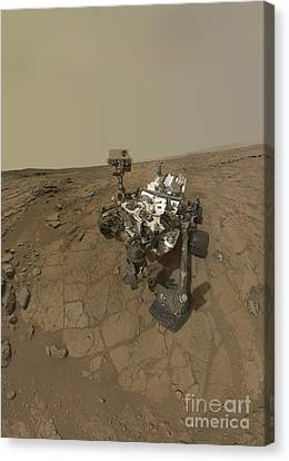 Self-portrait Of Curiosity Rover Canvas Print
