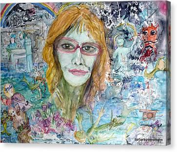 Self Portrait, I Survived Lung Cancer Survival Canvas Print