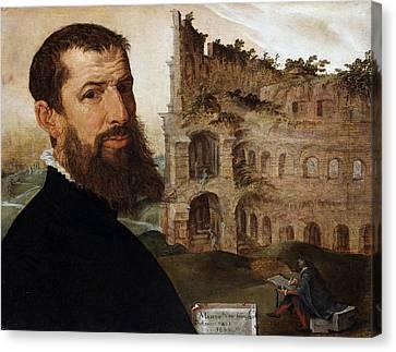 Self Portrait Of The Painter Canvas Print by Maerten van Heemskerck