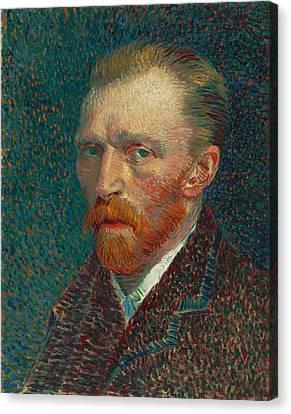 Self Portrait Of Vincent Van Gogh Canvas Print