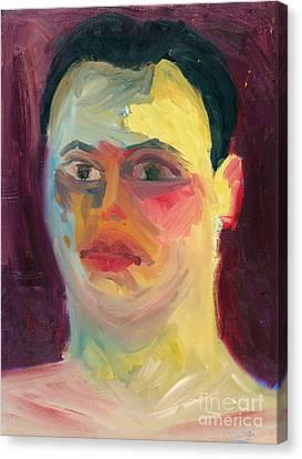 Self Portrait Oil Panting Canvas Print