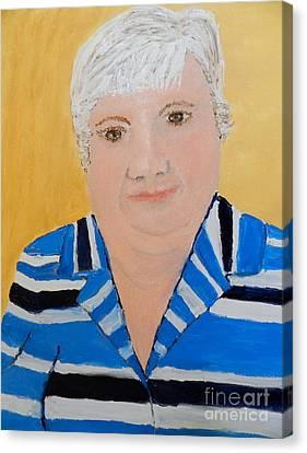 Self Portrait Canvas Print by Pamela  Meredith