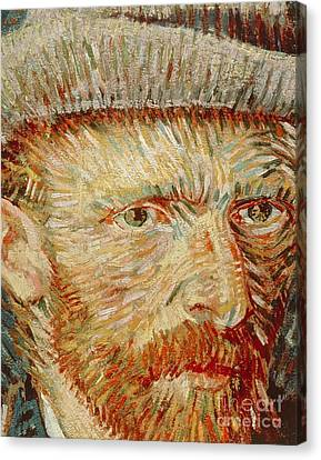 Self-portrait With Hat Canvas Print by Vincent van Gogh