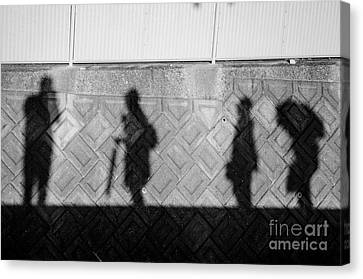 Self Portrait With Muses Canvas Print by Dean Harte