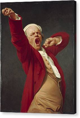 Self-portrait, Yawning, 1783  Canvas Print