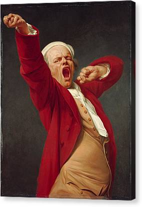 Self-portrait Yawning  Canvas Print by Joseph Ducreux