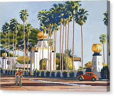 West Coast Canvas Print - Self Realization Fellowship Encinitas by Mary Helmreich