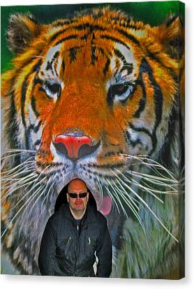 Selfie With The Tiger. Canvas Print by Andy Za