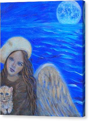 Selina Little Angel Of The Moon Canvas Print by The Art With A Heart By Charlotte Phillips