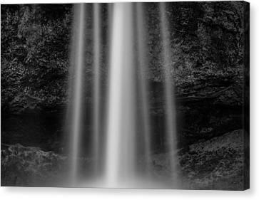 Abstract Water Fall Canvas Print - Seljalandsfoss 1 by Dave Bowman