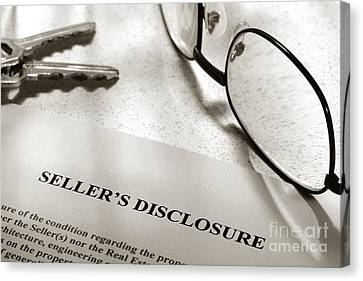 Seller Property Disclosure Canvas Print by Olivier Le Queinec