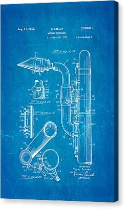 Selmer Saxophone Patent Art 2 1937 Blueprint Canvas Print by Ian Monk