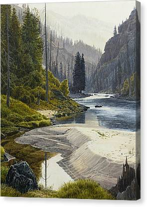 Selway River Canvas Print by Steve Spencer