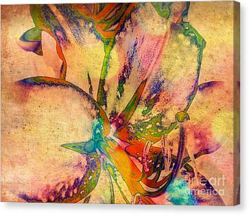 Springtime Floral Abstract Canvas Print