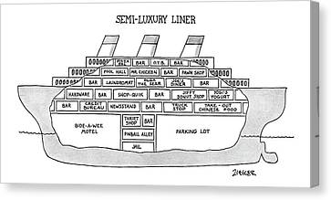 Semi-luxury Liner Canvas Print by Jack Ziegler