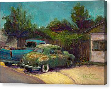 Old Trucks Canvas Print - Semi Retired by Athena  Mantle