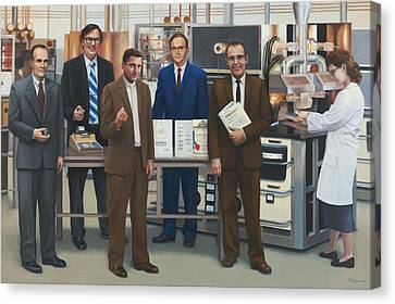 Semiconductor Pioneers Of Silicon Valley Canvas Print by Terry Guyer
