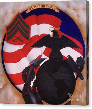 Semper Fidelis Canvas Print by D L Gerring
