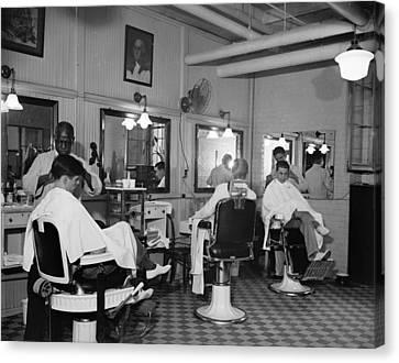 Ewing Canvas Print - Senate Barber Shop, 1937 by Granger