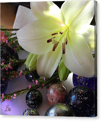Canvas Print featuring the photograph Send The Light Lily With Marbles by Bonnie Willis