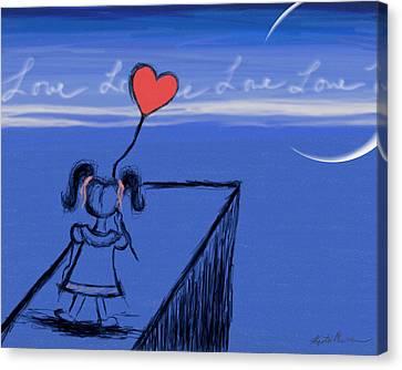 Sending Love Canvas Print
