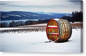 Seneca Lake Winery In Winter Canvas Print