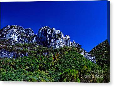 Seneca Rocks With The Gendarme Canvas Print