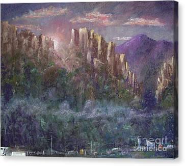Seneca Sunrise Canvas Print by Bruce Schrader