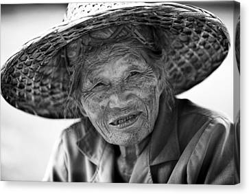 Senior Vendor Thai Woman Canvas Print
