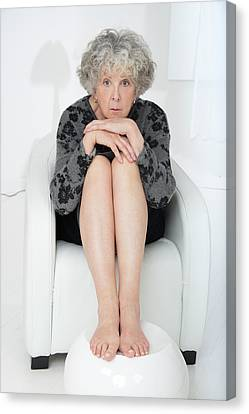 Senior Woman Looking At Camera Canvas Print