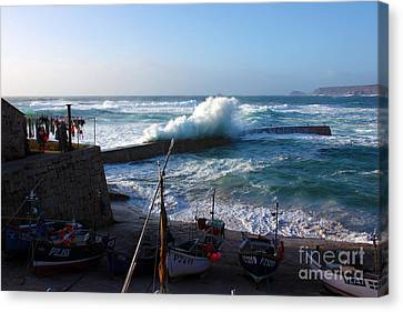 Sennen Cove Harbour Cornwall Canvas Print by Terri Waters