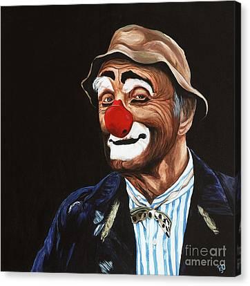 Senor Billy The Hobo Clown Canvas Print by Patty Vicknair