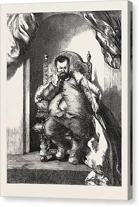 Senor Don Sancho Panza, Governor Of Barataria Canvas Print by Gilbert, Sir John (1817-97), English