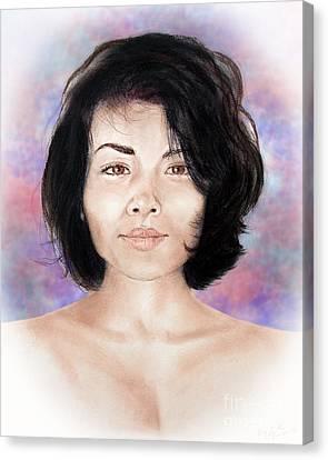 Filipina Canvas Print - Sensual Filipina Beauty  by Jim Fitzpatrick