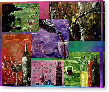 Sensual Wine  Canvas Print by Mark Moore