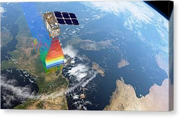 Sentinel-2 Satellite In Orbit Canvas Print