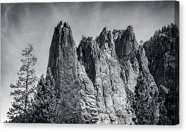 Sentinel Rock At Yosemite National Park Canvas Print
